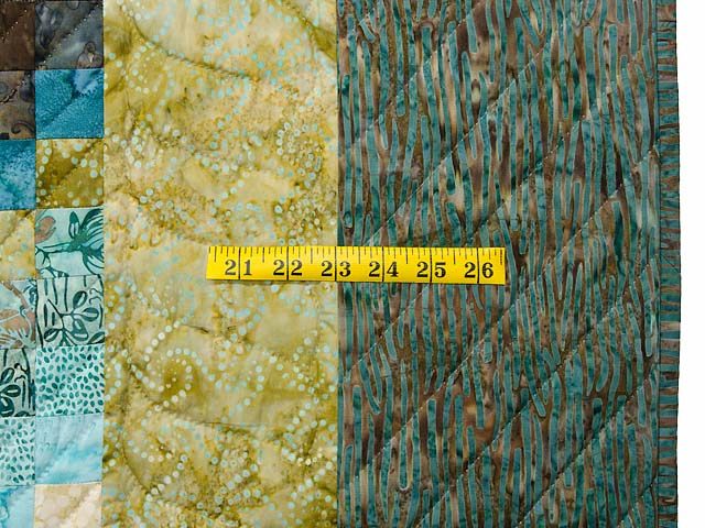 Teal Tan and Brown Lightning Strikes Bargello Quilt Photo 7