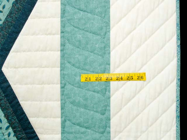 Sea Foam Teal Diamond Star Log Cabin Quilt Photo 7