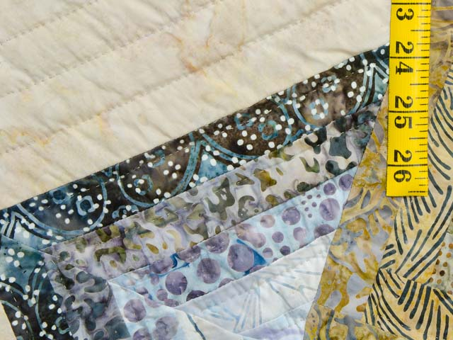Hand Painted Pastel Blue and Brown Star Spin Quilt Photo 6