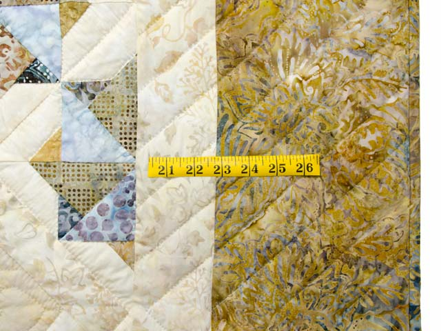 Hand Painted Pastel Blue and Brown Star Spin Quilt Photo 7