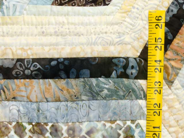 Pastel Blue Brown and Tan Diamond Star Log Cabin Quilt Photo 6