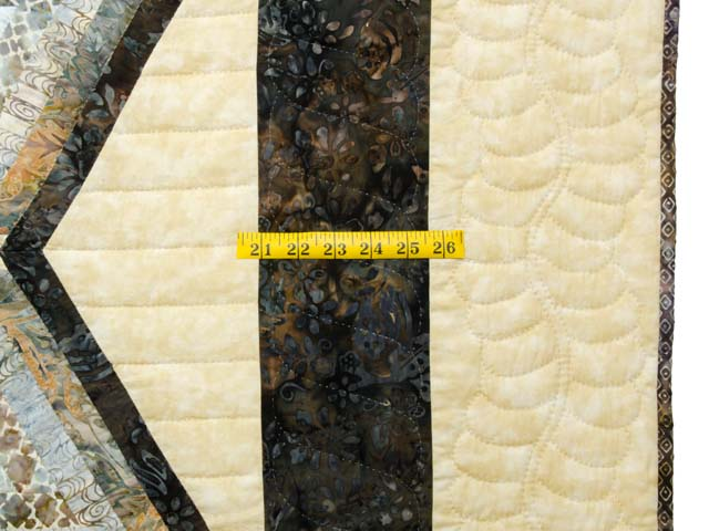 Pastel Blue Brown and Tan Diamond Star Log Cabin Quilt Photo 7