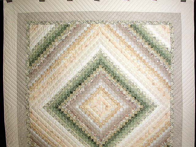 Sage and Tan Color Splash Quilt Photo 2