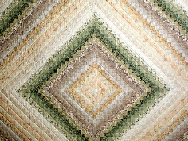 Sage and Tan Color Splash Quilt Photo 3