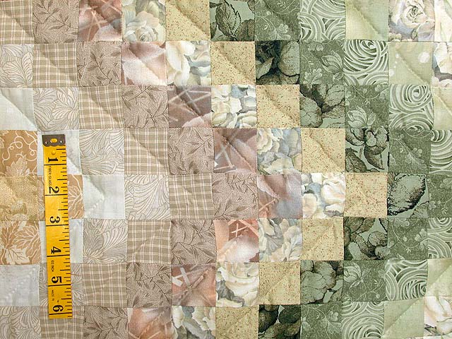 Sage and Tan Color Splash Quilt Photo 5