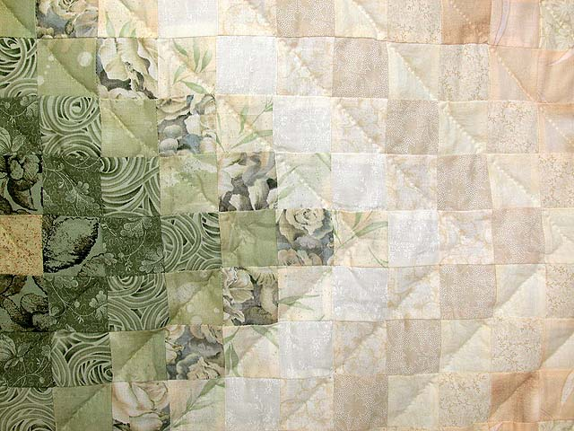 Sage and Tan Color Splash Quilt Photo 6