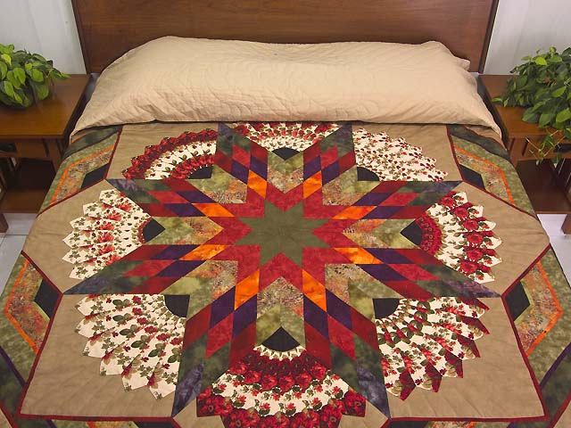 King Tan Purple and Multicolor Bertha Quilt Photo 1