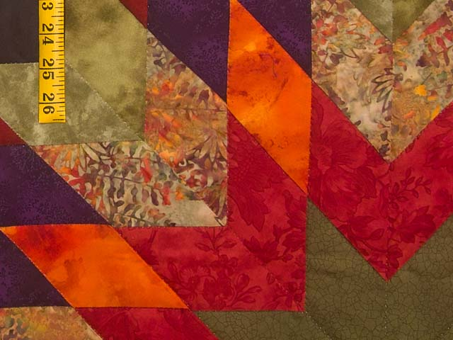 King Tan Purple and Multicolor Bertha Quilt Photo 6
