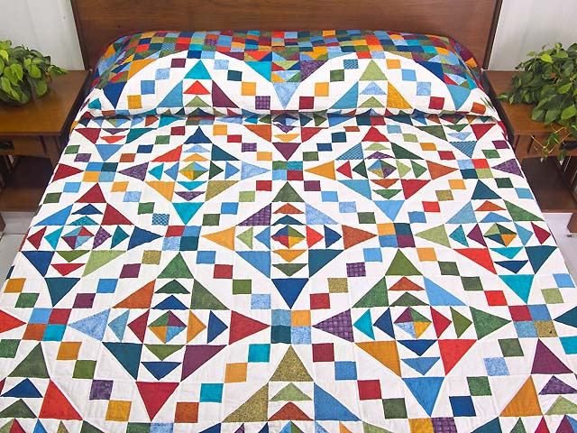 Colorful Faceted Jewels Quilt Photo 1