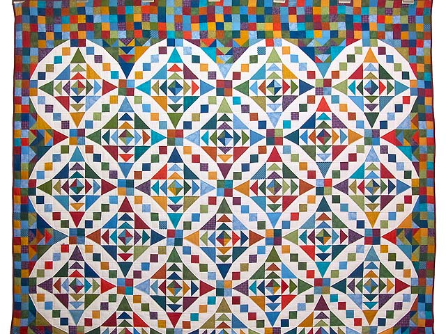 Colorful Faceted Jewels Quilt Photo 2