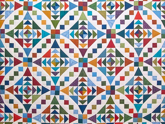 Colorful Faceted Jewels Quilt Photo 3