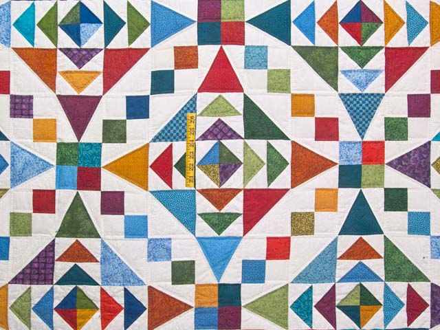 Colorful Faceted Jewels Quilt Photo 4