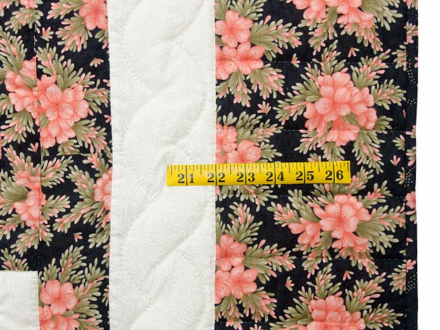 Rose Black Moss and Golden Tan Lone Star Log Cabin Quilt Photo 6