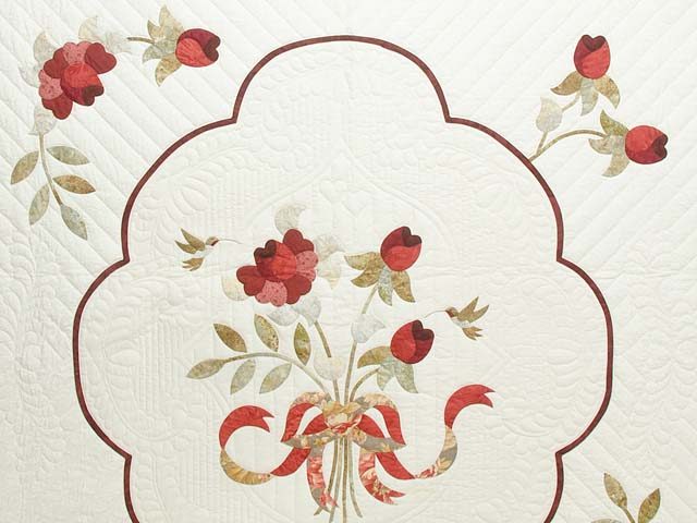 Red Taupe and Gold Lancaster Treasures Quilt Photo 3