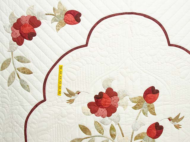 Red Taupe and Gold Lancaster Treasures Quilt Photo 4