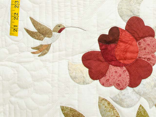 Red Taupe and Gold Lancaster Treasures Quilt Photo 5