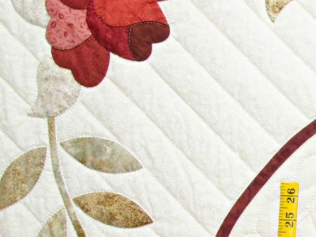 Red Taupe and Gold Lancaster Treasures Quilt Photo 6