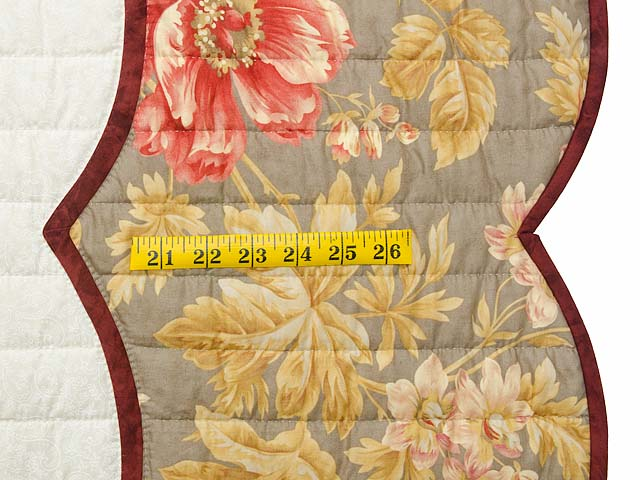 Red Taupe and Gold Lancaster Treasures Quilt Photo 7