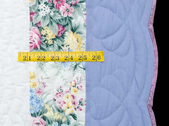 Pastel Blue and Lavender Embroidered Butterfly Quilt Photo 7