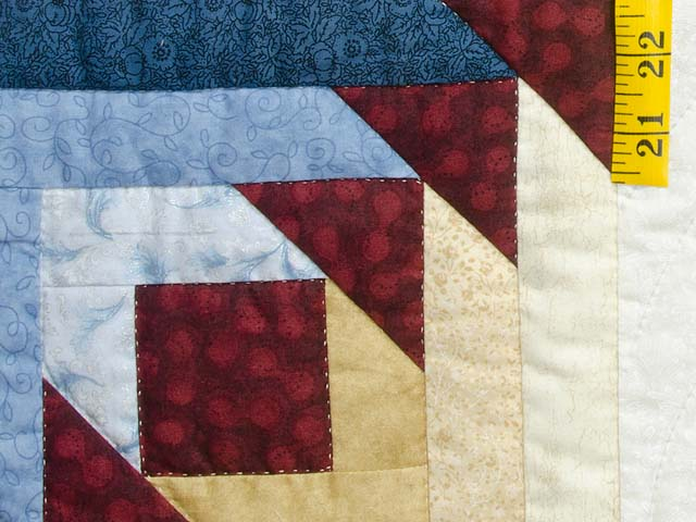 Navy Burgundy and Gold Compass Star Quilt Photo 6