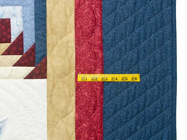 Navy Burgundy and Gold Compass Star Quilt Photo 7