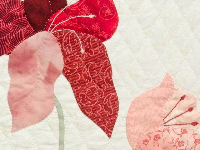 Coral Blue and Tan Petal Showcase Quilt Photo 6
