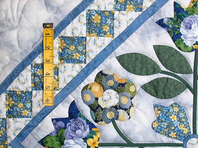 Blue Spring Flowers in Commons Quilt Photo 6