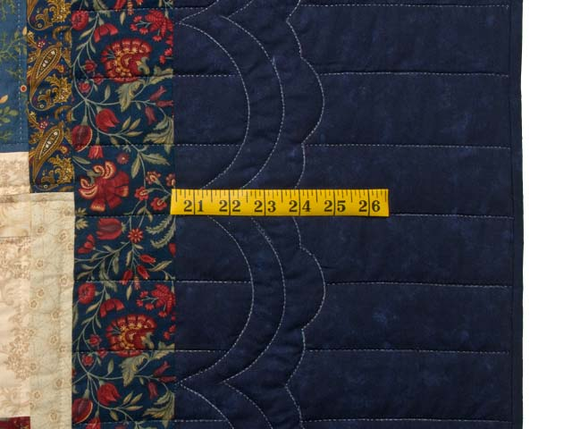 King Gold Navy Green and Burgundy Lone Star Log Cabin Quilt Photo 7