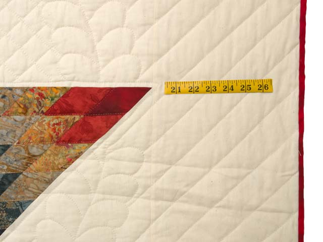 King Brick Red and Steel Blue Broken Star Quilt Photo 7