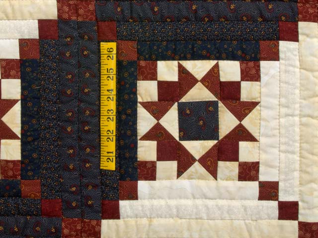 Burgundy and Navy Stars in the Cabin Quilt Photo 5