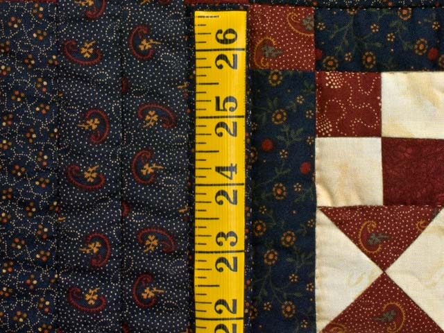 Burgundy and Navy Stars in the Cabin Quilt Photo 6
