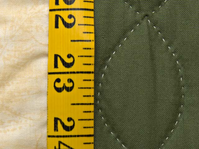 Gold and Moss Green Log Cabin Quilt Photo 8