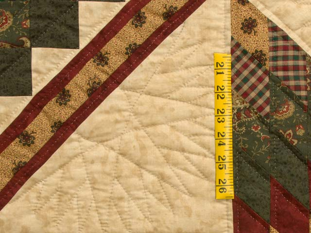 King Burgundy Green and Gold Lone Star Trip Quilt Photo 5