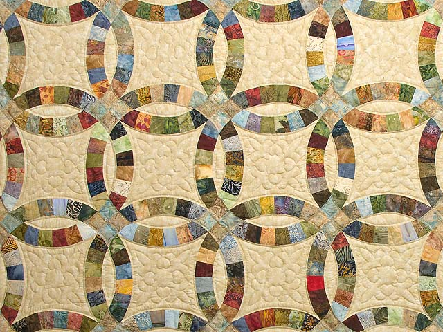 Double Wedding Ring Quilt -- splendid made with care Amish Quilts ...