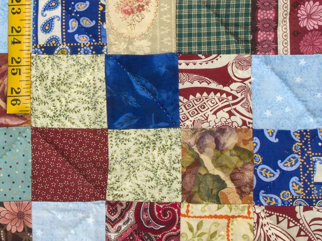Burgundy Teal and Multicolor Hit or Miss Quilt Photo 6