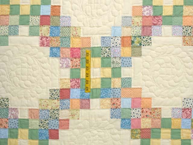 Pastel Triple Irish Chain Quilt Photo 4