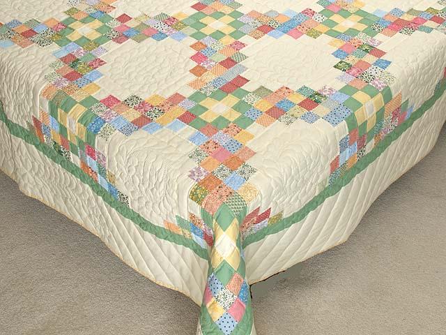 Pastel Triple Irish Chain Quilt Photo 7