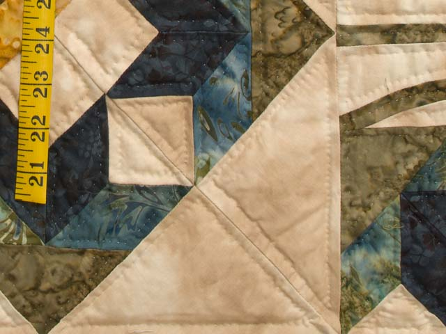 Gold Tan Green and Auburn Flowering Hearts Quilt Photo 6