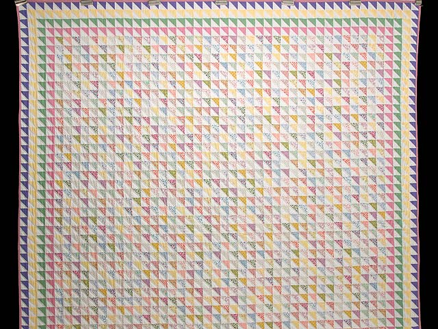 Pastel Diagonal Triangles Quilt Photo 2