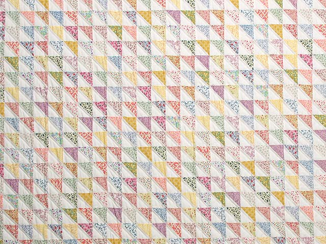 Pastel Diagonal Triangles Quilt Photo 3