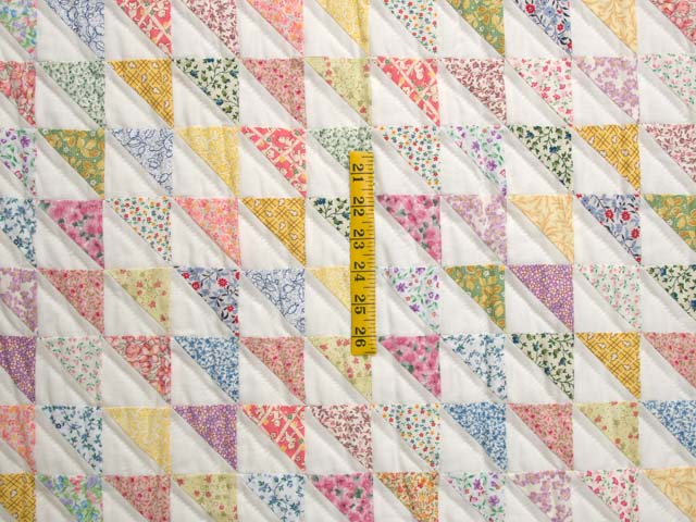 Pastel Diagonal Triangles Quilt Photo 4