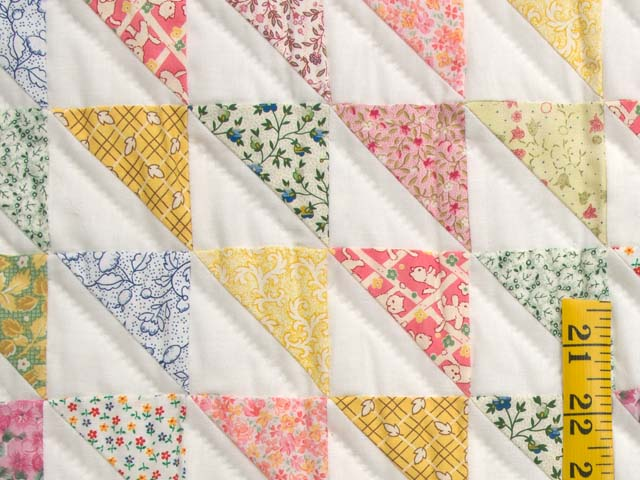 Pastel Diagonal Triangles Quilt Photo 5