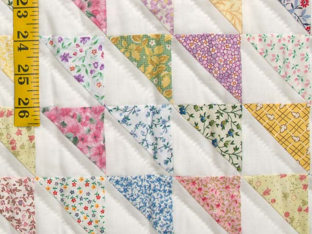 Pastel Diagonal Triangles Quilt Photo 6