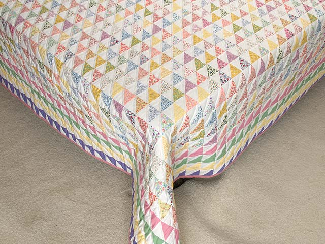 Pastel Diagonal Triangles Quilt Photo 7