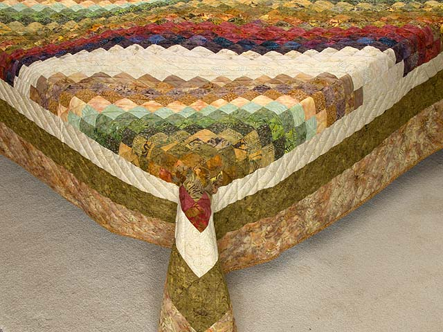 King Hand Painted Bargello Wave Quilt Photo 7