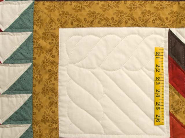 King Red Teal and Gold Star Quest Quilt Photo 5