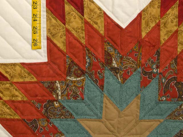 King Red Teal and Gold Star Quest Quilt Photo 6