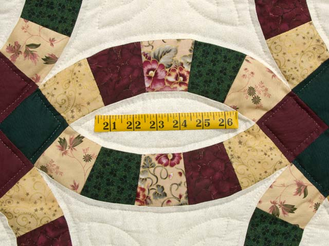 Autumn Tones Double Wedding Ring Quilt Photo 5