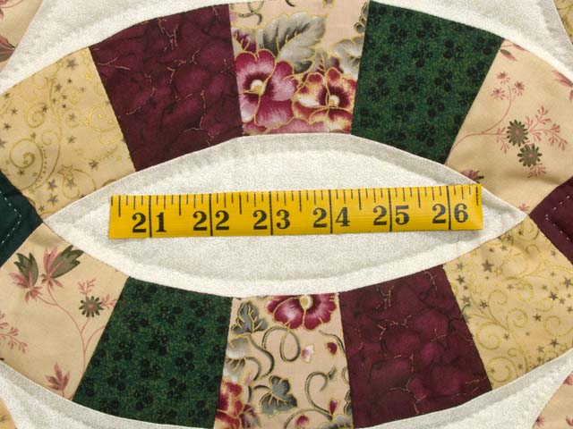 Autumn Tones Double Wedding Ring Quilt Photo 6