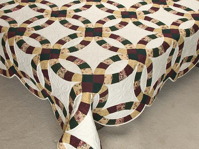 Autumn Tones Double Wedding Ring Quilt Photo 7